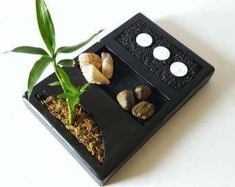 Deluxe Zen Garden Kit, Rock Garden, Meditation Garden, Japanese Rock Garden, Sand Garden, Desktop Zen Garden, Zen Garden, Bamboo Garden