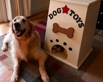 Custom Wood Dog Toy Bin