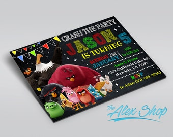 Angry Birds Birthday, Angry Birds Birthday invitation, Angry Birds invitation, Angry Birds Party, Angry Birds Printable