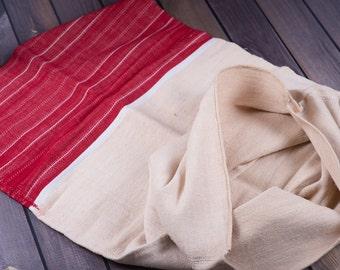 Grain Sack Pillow, red Antique linen ,Grain Sack Europe, wedding grain sack, pillow garden, wedding table runner, 41 inch LONG Pillow cover