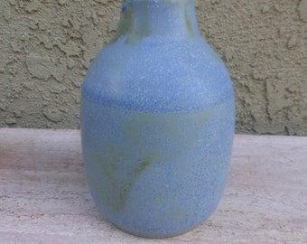 Wide Blue Bottle