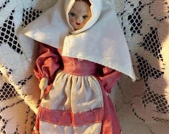 Vintage, ethnic composition doll