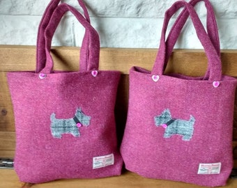 Harris Tweed tote bags