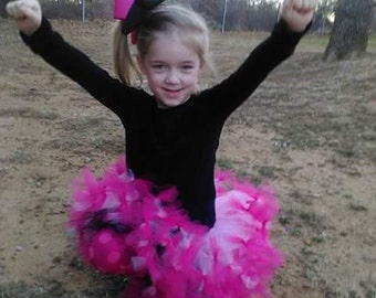reversible tutu skirt hot pink and black