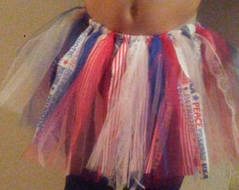 4th of july rag tutu