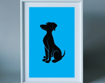 Labrador - wall art print for children's room, nursery or the home