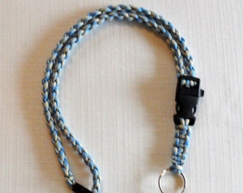 Handmade Paracord Lanyard with detachable keychain