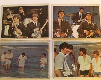 Vintage Beatles Color Cards 1964