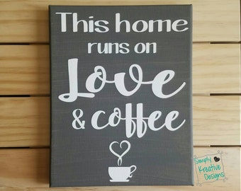 Love and Coffee Canvas