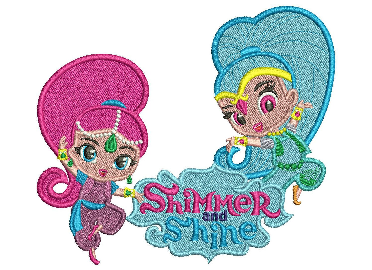 Embroidery Design Shimmer And Shine