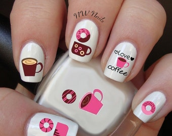 Love Coffee Nail Art Decals