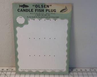 Advertising Placard Display For LE Olsen Fish Lures / Fish Plugs, 11x14