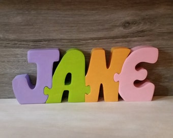 Jane puzzle wooden name letters
