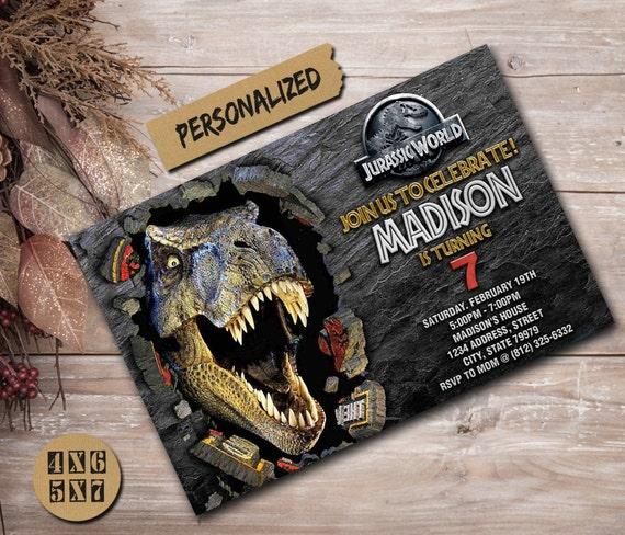 Jurassic World Invitation Jurassic World Party Jurassic