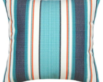 Sunbrella Token Surfside Indoor/Outdoor Striped Pillow