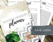 BUDGET & FINANCES PLANNER - Printable planner - Instant Download - Home Management Binder - Home File - 30 page pdf in A4 and Letter sizes