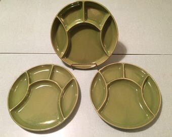Vintage Sunburst Canada Fondue Plates