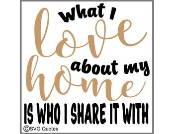 What I Love About Home SVG DXF EPS Cutting File For Cricut Explore,Silhouette & More. Instant Download. Personal and Commercial Use. Vinyl