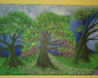 Dance with the trees original acrylic