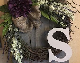 Grapevine Wreath- Monogram