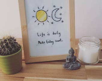Life is daily embroidery