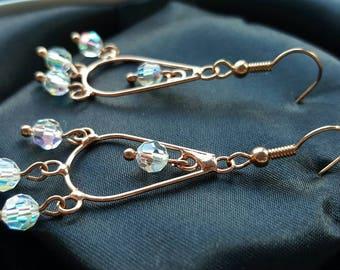Mystic Quartz Chandelier Earrings