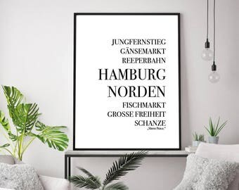 Poster, print, Hamburg, saying, quote, sayings, quote