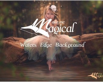 Waters Edge Background | Digital Backdrop | Digital Background | Portrait Background | Fairy Backdrop |Fairy Background | Photo Backdrop