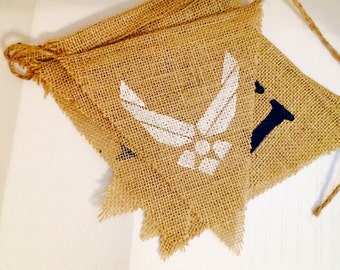 U.S. Air Force Burlap Banner