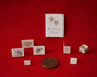 Dollhouse Miniature 1/12 Scale - Wedding Notes Set