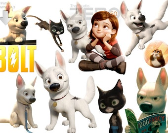 50 Disney Bolt Digital Clipart For Instant Download 300 DPI - Printable/Iron-on