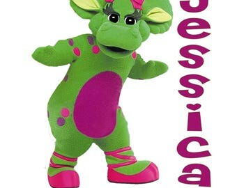 Baby Bop Barney Personalized Iron on Transfer