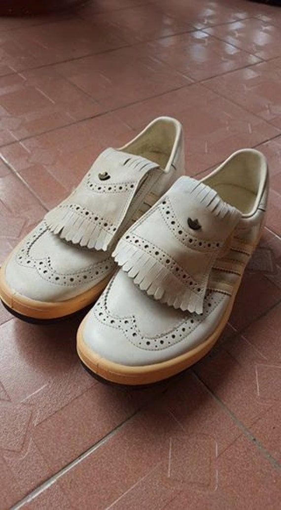 7e37642af486 1980s Vintage ADIDAS Golf Made In West Germany Leather by Dueight 85%OFF.  Nike Shoes