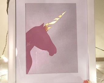 Unicorn painting, not a print, a Handpainted piece.