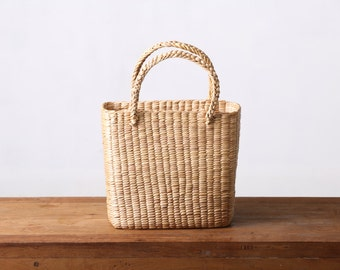 Water Hyacinth tote bag #100% Natural Wicker #Thai Handmade