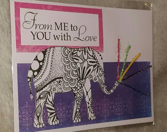 From me to you with love card