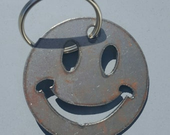 Novelty Smiley Face Keychain