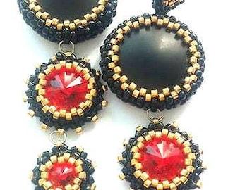 Red Queen beaded earrings