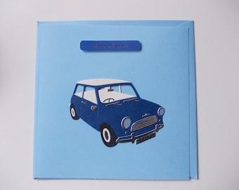 Blue Mini - Handmade Birthday Card (1 Card)