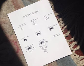 How To Draw Your Sadness Postcard