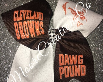 Cleveland browns cheer bow