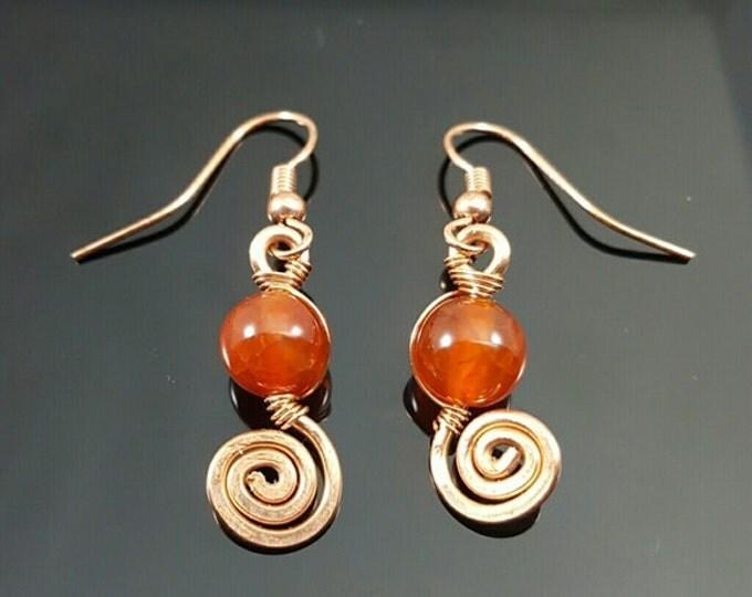 Handmade Fire Agate Earrings