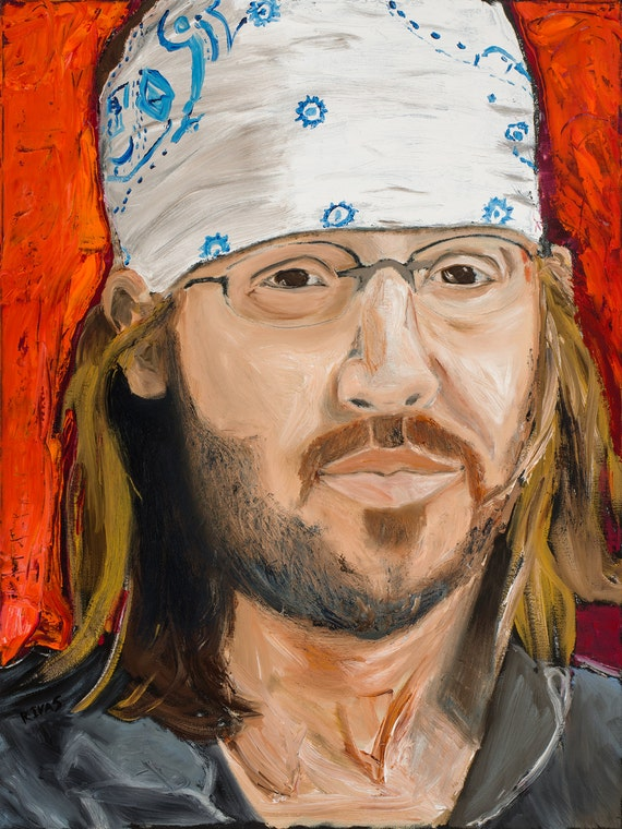 David Foster Wallace-9x12 Hand-Numbered Print