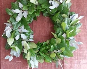 Salal and Silver Dollar Eucalyptus Wreath