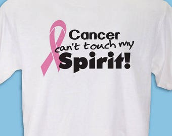 Personalized Pink Ribbon Breast Cancer Awareness T-Shirt Custom Name Gift