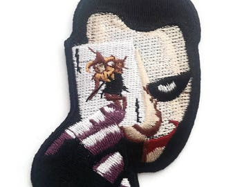 Joker Embroidered Patch, Size 3.5X2