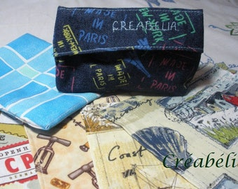 "Kit handkerchiefs disposable cotton ""Marine environment"", for man or teenager"