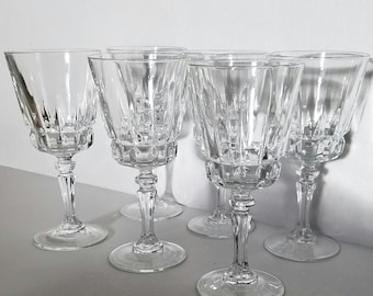 Wine glasses mid century design (set of six)