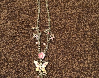 Vintage Butterfly Style Necklace