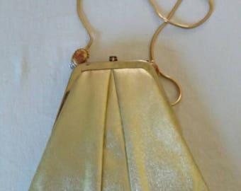 Vintage Ande Gold Handbag Evening Bag